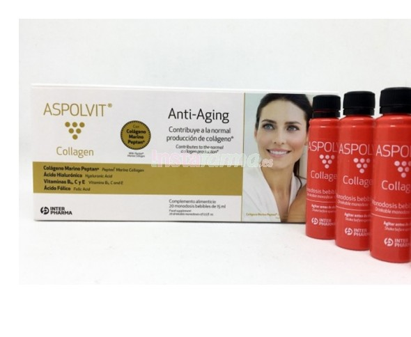 Aspolvit Collagen 20 ampollas